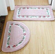 XWG 2 Set Bodenmatte / Teppich/ Fußmatte / Fussmatten / Badezimmer saugfähige Bodenmatte / Schlafzimmer Matten / Wohnzimmermatte / Türeingangsmatten / Haushaltsbadematte ( farbe : 2# )