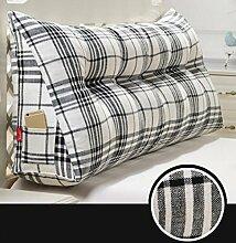 XWG Back Kissen / Abnehmbare Rückenlehne / Large Bett Rückenlehne / Bedside Kissen Taille Kissen / Soft Kissen Kissen ( farbe : 2# , größe : 120cm )