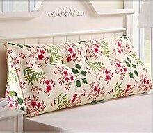XWG Dreieck Kissen Kissen Doppelbett Bett Kopf gepolsterte Rückenlehne Lendenkissen großes Bett waschbar Kissen ( Farbe : I , größe : Size90*50*20 )
