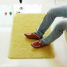 XWG Einfache Jacquard Tür Erde Eingangsmatten Fußmatte saugfähige rutschfeste Matte Bad Matte zu Hause ( farbe : 1# )