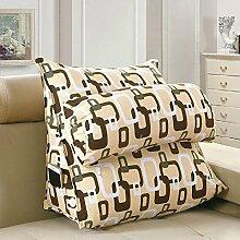 XWG Große dreieckigen Kissen Bürotaillenkissen Bett Rückenkissen Bettsofa Kissen Nackenkissen waschbar Kissen ( Farbe : D , größe : Length45cm )