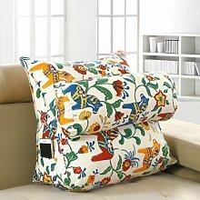 XWG Große dreieckigen Kissen Bürotaillenkissen Bett Rückenkissen Bettsofa Kissen Nackenkissen waschbar Kissen ( Farbe : J , größe : M )