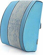 XWG Kissen / Büro-Taillen-Auflagen / Gedächtnis-Schaum-Kissen / Schlaf-Taillen-Kissen / Auto-Taillen-Kissen / Auto-Taillen-Kissen / Auto-Taillen-Auflage / Taillen-Kissen / schwangere Frauen Lenden-Stuhl Kissen / Schlafsofa-Kissen / Schlaf-Kissen ( farbe : Blau , größe : 1* )