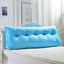 XWG Kissen / Large Back Pad / Cotton Headboard Gepolsterte Rückenlehne / Doppelbett auf dem Kissen / Bett Rückenlehne Pad / Kissen Sofa Kissen / abnehmbare Kissen Kissen ( Farbe : Blauer himmel , größe : 90x50x20cm )