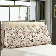 XWG Kissen / Large Back Pad / Cotton Headboard Gepolsterte Rückenlehne / Doppelbett auf dem Kissen / Bett Rückenlehne Pad / Kissen Sofa Kissen / abnehmbare Kissen Kissen ( farbe : 12 , größe : 60x20x45cm )