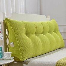 XWG Kissen / Rückenkissen / Sof Dreieck-Kissen / doppeltes Bett-weiche Tasche / Bett großes Kissen / abnehmbares waschbares rückseitiges Kissen ( farbe : 1# , größe : 120cm )