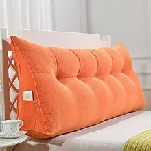 XWG Kissen / Rückenkissen / Sof Dreieck-Kissen / doppeltes Bett-weiche Tasche / Bett großes Kissen / abnehmbares waschbares rückseitiges Kissen ( farbe : 4# , größe : 135cm )