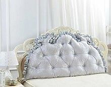 XWG Kissen Rückenlehne / Europäische Doppelnacht Kissen / Bett Großes Kissen / Bett Rückenpolster / Nackenschutz Pillow Pillow / Rückenkissen ( farbe : 2# , größe : 120*75cm )