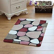 XWG Teppich/ Geschenke Schneiden Motiv Pflasterstein Bodenmatte / WC Badezimmer-saugfähige rutschfeste Matte / Schlafzimmerbettdecke / Fußmatte / Küche Bodenmatte / Schlafzimmer Bodenmatte ( farbe : 2# , größe : 50*120CM )