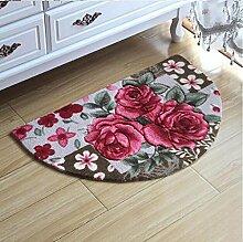 XWG Teppich/ Halbkreis Bodenmatte / Fußmatte / Foyer Tür Bodenmatte / Schlafzimmer Bodenmatte / Badezimmer Matte / Osmanen / Fußmatten / Badezimmer Matte / Vakuumsauger Bodenmatte / Teppichboden Osmanen ( farbe : 2# , größe : 50*80cm )