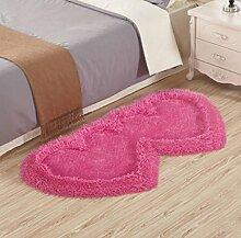 XWG Teppich Mat / Wohnzimmer Teppich / Schlafzimmer Bedside Front Matratze / Windows und Shaggy Teppich / Tisch Stuhl Teppich Pads / Wedding Room Heart-shaped Teppich ( farbe : 7# , größe : 70*140cm )