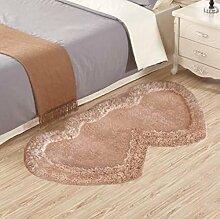 XWG Teppich Mat / Wohnzimmer Teppich / Schlafzimmer Bedside Front Matratze / Windows und Shaggy Teppich / Tisch Stuhl Teppich Pads / Wedding Room Heart-shaped Teppich ( farbe : 1# , größe : 70*140cm )