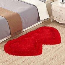 XWG Teppich Mat / Wohnzimmer Teppich / Schlafzimmer Bedside Front Matratze / Windows und Shaggy Teppich / Tisch Stuhl Teppich Pads / Wedding Room Heart-shaped Teppich ( farbe : 6# , größe : 70*140cm )