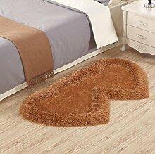 XWG Teppich Mat / Wohnzimmer Teppich / Schlafzimmer Bedside Front Matratze / Windows und Shaggy Teppich / Tisch Stuhl Teppich Pads / Wedding Room Heart-shaped Teppich ( farbe : 3# , größe : 80*160cm )