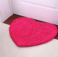 XWG Teppich/ Nette herzförmige Nachtmatte / Fußmatte / Schlafzimmer Nachtmatte / Halle Bodenmatte / Badezimmer rutschfeste Matte / Badezimmer absorbierende Kissen ( farbe : 8# , größe : 50cm×60cm )