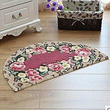 XWG Teppich/ Rosenmotiv Bodenmatte Schneiden / WC Badezimmer-saugfähige rutschfeste Matte / Schlafzimmerbettdecke / Fußmatte / Küche Bodenmatte / Schlafzimmer Bodenmatte ( farbe : 4# , größe : 40*67CM )