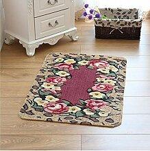 XWG Teppich/ Rosenmotiv Bodenmatte Schneiden / WC Badezimmer-saugfähige rutschfeste Matte / Schlafzimmerbettdecke / Fußmatte / Küche Bodenmatte / Schlafzimmer Bodenmatte ( farbe : 3# , größe : 49*79CM )