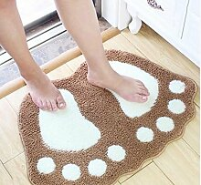 XWG Teppich/ Schöne, große Füße Bodenmatte Absorbent Bodenmatte Fußabtreter Badezimmer-Matte Kinder Matte Schlafzimmer Bodenmatte Teppichboden Osmanen ( farbe : 1# , größe : 40*60cm )