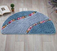 XWG Teppich / Startseite Rosen Meer / Halbrund Meer / Fußmatte / Absorbent Pad / Badezimmer grünen Matten / Küche Bodenmatte / Für kreative Antirutschmatten ( farbe : 1# , größe : 40*60cm )
