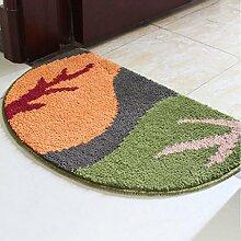 XWG Teppich/ Weiche, saugfähige rutschfeste Matten / Absorbent Bodenmatte / Fußmatte / Badezimmer Matte / Kitchen mat / Schlafzimmer Bodenmatte / Teppichboden Osmanen ( farbe : 8# , größe : 50*80CM )