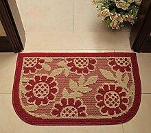 XWG Teppichmatte / Eingangsmatten / Pastoral Matte / Kaffeetisch Matte / Halbkreisförmige Matte / Tür Badezimmermatte / Wasseraufnahme dicke Fußpolster ( farbe : 3# , größe : 45×75cm )
