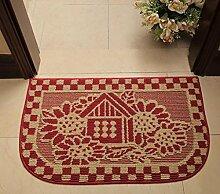 XWG Teppichmatte / Eingangsmatten / Pastoral Matte / Kaffeetisch Matte / Halbkreisförmige Matte / Tür Badezimmermatte / Wasseraufnahme dicke Fußpolster ( farbe : 5# , größe : 45*75cm )