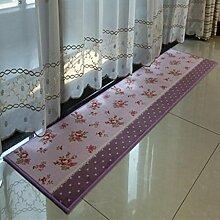 XWG Teppichmatte / Küche Bodenmatten Lange Teppich / Bedside maschinenwaschbar Fuss-Auflage / Tür Matte / Türmatten schwebendes Fenster Pad / Bad-Matte / Absorbent Anti-Rutsch-Matten ( farbe : 4# , größe : 45*180cm )