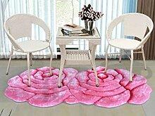 XWG Teppichmatte / Rund Teppich / Hängekorb Drehstuhl Teppich / Computer Stuhl Teppich / Rose Room Teppich / Wohnzimmer Nacht vorne Teppich / Hochzeit Hochzeit Raumteppich ( farbe : 4# , größe : 70*140CM )