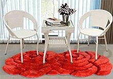 XWG Teppichmatte / Rund Teppich / Hängekorb Drehstuhl Teppich / Computer Stuhl Teppich / Rose Room Teppich / Wohnzimmer Nacht vorne Teppich / Hochzeit Hochzeit Raumteppich ( farbe : 3# , größe : 100*180CM )