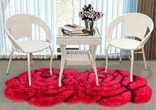 XWG Teppichmatte / Rund Teppich / Hängekorb Drehstuhl Teppich / Computer Stuhl Teppich / Rose Room Teppich / Wohnzimmer Nacht vorne Teppich / Hochzeit Hochzeit Raumteppich ( farbe : 1# , größe : 100*180CM )