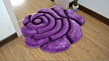 XWG Teppichmatte / Rund Teppich / Hängekorb Drehstuhl Teppich / Computer Stuhl Teppich / Rose Room Teppich / Wohnzimmer Nacht vorne Teppich / Hochzeit Hochzeit Raumteppich ( farbe : 5# , größe : 70cm )