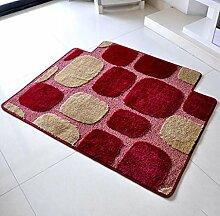 XWG Teppichmatte / verdickte in die Türmatte / Wohnzimmerteppich Matte / Tür-zu-Tür-Matte / Schlafzimmer Matten Decke Küche Fußballen ( farbe : 2# , größe : 100*140cm )