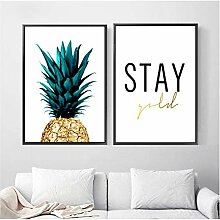xwwnzdq Wohnkultur Gedruckte Gemälde Ananas Stay