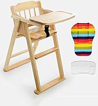 XWZ Massivholz Kinder Esszimmer Stuhl Baby Dinette Folding Kinder Esszimmer Stuhl Babystuhl Baby Esszimmerstuhl Verschiedene ( farbe : C , größe : 1 )