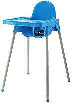 XWZ Tragbare Baby Esszimmerstuhl Multifunktions-Kinder-Dinette Kunststoff Babystuhl Hotel Baby Esszimmer Stühle Baby Esszimmerstuhl Verschiedene ( farbe : Blau )