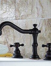 XX&GX Armaturen für Waschbecken - Antik Messing (Bronze mit Ölschliff)