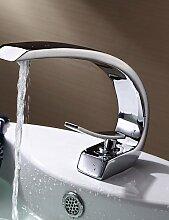 XX&GX Armaturen für Waschbecken - Zeitgenössisch Messing (Chrom)