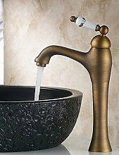 XX&GX Centerset Einhand-Antique Messing Waschbecken Wasserhahn