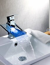 XX&GX deckenmontiert Einhand Ein Loch in Chrom Waschbecken Wasserhahn