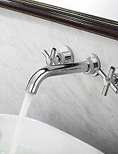 XX&GX zeitgenössische verbreitet Waschbecken Wasserhahn (Wandmontage)