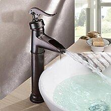 XX&GXM 2017 Neu Home deco Wasserfall-style retro Kupfer warmes und kaltes Bad Waschbecken Wasserhahn(Home Küchen, Geschenke zum Geburtstag, Valentinstag Geschenke)
