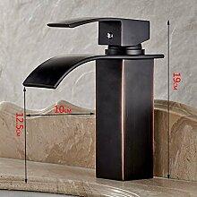 XX&GXM 2017 Newcontinental Kupfer Badezimmer Waschtisch Armatur Armatur Wasserfall erhöhte quadratische Form, EIN (Home Küchen, Geburtstag Geschenke, Valentinstag Geschenke)
