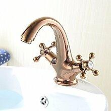 XX&GXM Badezimmer Zubehör Wasserfall Europäische Waschbecken Wasserhahn heißen und kalten Wasserhahn