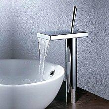 XX&GXM Moderne Chrom Waschbecken Wasserhahn, h