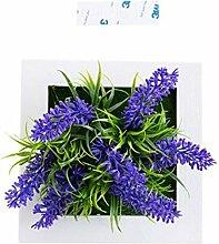 XXAICW Dreidimensionale Simulation Pflanze Wand Dekoration Anhänger Wohnzimmer-Wandbehang-Grüne Wand-Dekoration Lavendel 1 A
