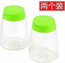 XXAICW Haushalt Glas Grill Gewürze Gewürz Gläser Spice Flasche Flaschen Salzstreuer Küchenhelfer set , Grün
