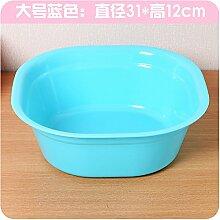 XXAICW Waschbecken verdickte kleine Waschbecken kleine Erwachsene Waschtisch Einheit Haushalt Kunststoff klar Kunststoff Wäsche Waschbecken , King Size blaues Quadra