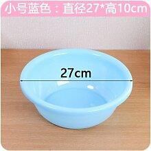 XXAICW Waschbecken verdickte kleine Waschbecken kleine Erwachsene Waschtisch Einheit Haushalt Kunststoff klar Kunststoff Wäsche Waschbecken , Runde kleine blau