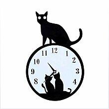 XXBF 3D Cat Wanduhr Mit Schwingenden Schwanz Wand