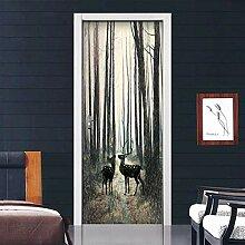 XXCCTT 3D Wohnzimmer Türtapete Wandbilder